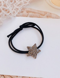 Fashion Star Bow Tie Rhinestone Five-pointed Star Alloy Hair Rope