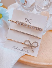 Fashion Golden Rhinestone Butterfly Combined Gold Hollow Hair Clip Set