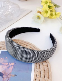 Fashion Xiaoge Houndstooth Sponge Wide-brimmed Hair Band