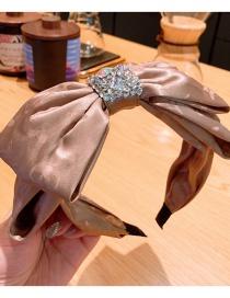 Fashion Champagne Silk Reflective Shiny Laser Double-layer Large Bowknot Full Diamond Headband