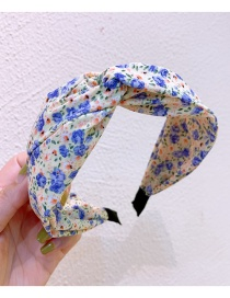 Fashion Goose Orchid Cream Floral Print Cross-wide Hairband