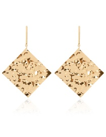 Fashion Golden Alloy Diamond Earrings
