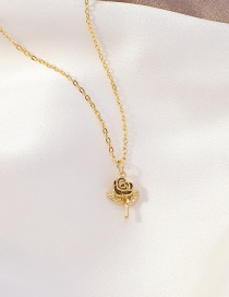 Fashion Golden Rose Alloy Necklace