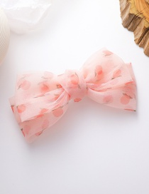 Fashion Pink Three-dimensional Mesh Yarn Big Bow Wave Wave Point Children Hairpin