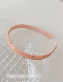 Fashion Solid Color-pink Leather Lattice Pressure Hair Band