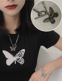 Fashion Necklace Stainless Steel Butterfly Ot Buckle Necklace Bracelet