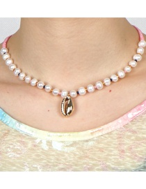 Fashion White Natural Pearl Shell Necklace