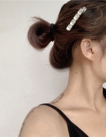 Fashion One Faceted Crystal Alloy Hair Clip