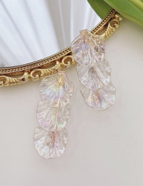 Fashion Transparent Color (single) Shell Leaf Alloy Hair Clip