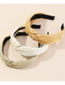 Fashion Color Mixing Wide-brim Knotted Fabric Pearlescent Wide-brimmed Hair Band Set