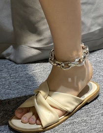 Fashion Golden Acrylic Thick Chain Anklet