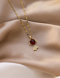 Fashion Goldfish Fox Pixiu Goldfish Pendant Micro-inlaid Zircon Necklace
