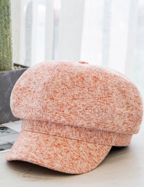 Fashion Pink Cotton Wide-brimmed Duck Tongue Octagonal Hat