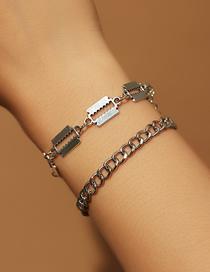 Fashion Silver Blade Alloy Geometric Bracelet Set