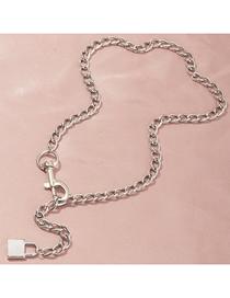 Fashion Silver Geometric Shape Key Chain Alloy Necklace