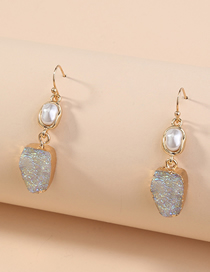Fashion White Shaped Water Droplets Imitation Natural Stone Pearl Earrings