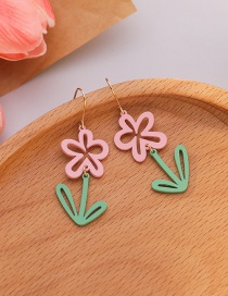 Fashion Color Mixing Small Daisy Alloy Hollow Earrings