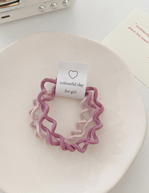Fashion Pink Gradient Color Wavy Hair Rope Set