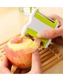 Fashion Green Telescopic Portable Two-way Flip Fruit And Vegetable Peeler