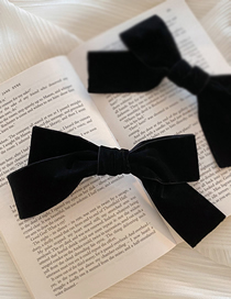 Fashion Bow Spring Clip Velvet Bow Fabric Alloy Hairpin Hair Rope