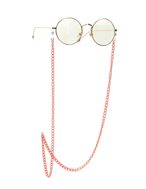 Fashion Orange Non-slip And Non-fading Alloy Glasses Chain