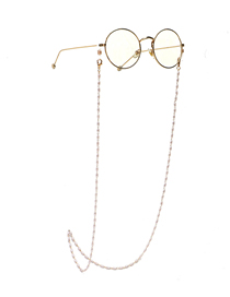 Fashion Golden Rice-shaped Pearl Anti-lost Anti-drop Glasses Chain