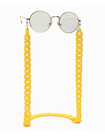 Fashion Yellow Anti-skid Glasses Chain With Thick Acrylic Chain