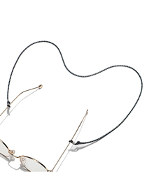 Fashion Black Two-color Rope Braided Anti-lost Glasses Chain