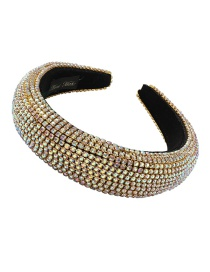 Fashion Ab Diamond Wide-brimmed Sponge Headband With Diamonds