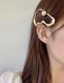 Fashion Golden Alloy Snake-shaped Hollow Geometric Hairpin