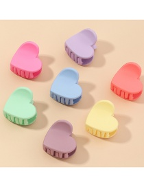 Fashion Color Mixing Frosted Resin Hit Color Love Clip Set