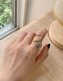 Fashion Two-color Opening Metal Wide Face Smooth Open Ring
