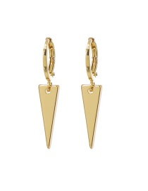 Fashion Golden Copper Triangle Earrings