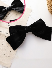 Fashion Xiuzhi Duckbill Clip Of The Same Style (right) Velvet Bowknot Fabric Alloy Hairpin Hair Rope