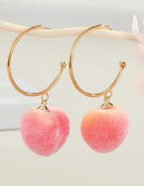Fashion Light Yellow Peaches Peach Resin Alloy Earrings