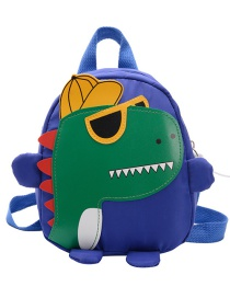 Fashion Blue Childrens School Bag 3-6 Years Old Small Dinosaur Backpack