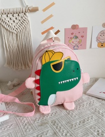 Fashion Pink Childrens School Bag 3-6 Years Old Small Dinosaur Backpack