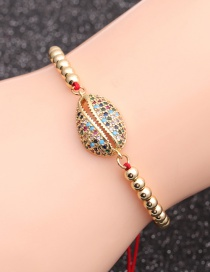 Fashion Color Zirconium Shell Copper Micro-inlaid Zircon Shell Beaded Bracelet