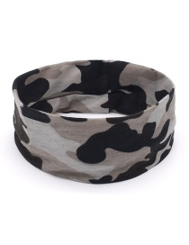 Fashion Black Camouflage Print Sports Yoga Wide Brim Headband