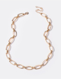 Fashion Gold Color Handmade Chain Mid-length Alloy Hollow Necklace