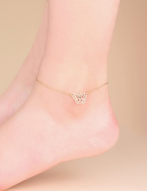 Fashion Gold Color En Butterfly Alloy Hollow Anklet