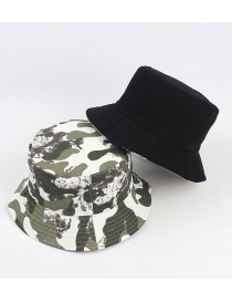 Fashion Army Green White Camouflage Face With Foldable Sunshade Fisherman Hat