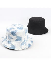 Fashion Leaves Fisherman Hat With Star And Cherry Animal Print On Both Sides