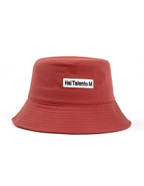 Fashion Red Letter Embroidered Sun Cover Fisherman Hat