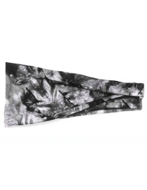 Fashion Black Tie Dye Tie-dye Wide-brim Sports Like Elastic Headband