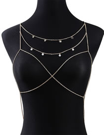 Fashion Golden Pearl Butterfly Butterfly Hollow Body Chain