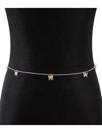 Fashion Golden Small Butterfly Alloy Hollow Waist Chain