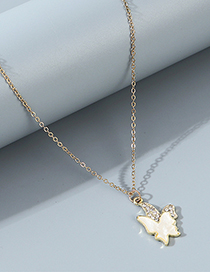 Fashion White Small Butterfly Resin Diamond Alloy Necklace