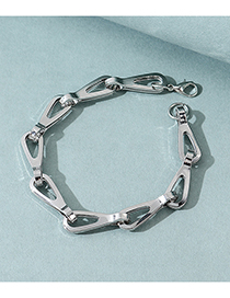 Fashion Silver Keychain Alloy Hollow Mens Bracelet