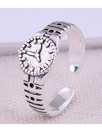 Fashion Silver Watch Alloy Open Ring